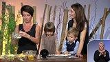 Vaření s moderátorkami Sama doma - 1. část + anketa
