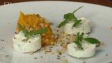 Čerstvý kozí sýr s dýňovým chutney