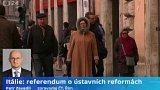 Itálie: referendum o ústavních reformách