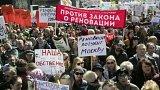 """Protesty proti bourání """"chruščovek"""""""