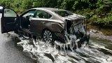 Bizarní nehoda na silnici v americkém státu Oregon