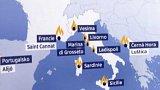 Požáry v Evropě