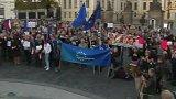 Protest na Hradčanském náměstí
