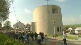 Nový kostel v Sazovicích na Zlínsku
