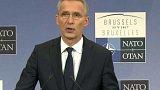 Tisková konference šéfa NATO + rozhovor s P. Kratochvílem