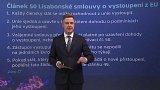 Británie opouští EU - článek 50 Lisabonské smlouvy