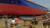 Říčně-námořní loď spuštěna na Labe (1994)