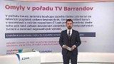 Omyly v pořadu TV Barrandov