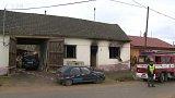Požár rodinného domu v Oleksovicích
