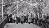 Most Brigádníků překlenul ve Stříbrné Skalici řeku Sázavu (1948)