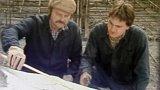 Práce na lávce pro pěší v Troji (1983)