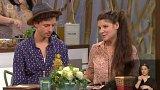 Jan Cina a Anna Duchaňová v brněnském studiu České televize právě natáčí pokračování Pohádek do ouška a předčítají romské pohádky