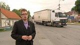 Ejpovice u Plzně bojují proti kamionům