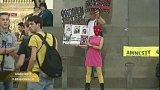 Akce na podporu Pussy Riot na Václavském náměstí v Praze