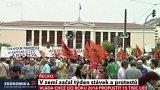 Řecko: v zemi začal týden stávek a protestů
