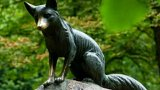 Ukradená socha Lišky Bystroušky