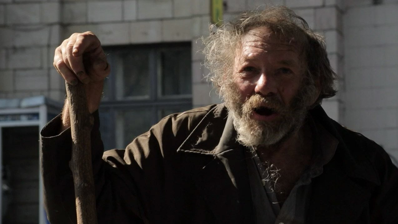 Vystřižená scéna – Bezdomovec