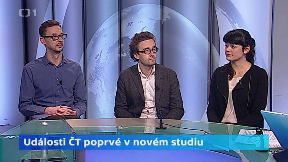 Události ČT poprvé v novém studiu