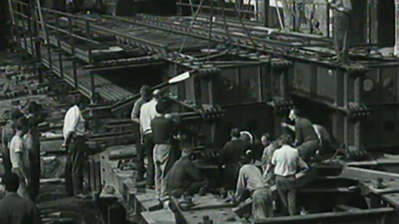 Výstavba podchodu na Václavském náměstí (1967)