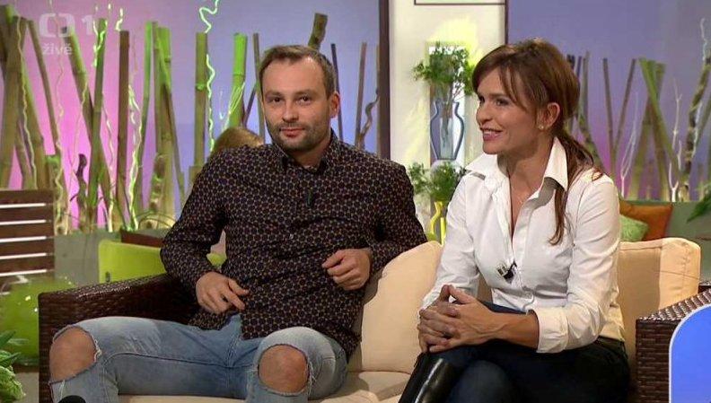 Vypadnuvší pár Olga Šípková aMarek Dědík v Sama doma