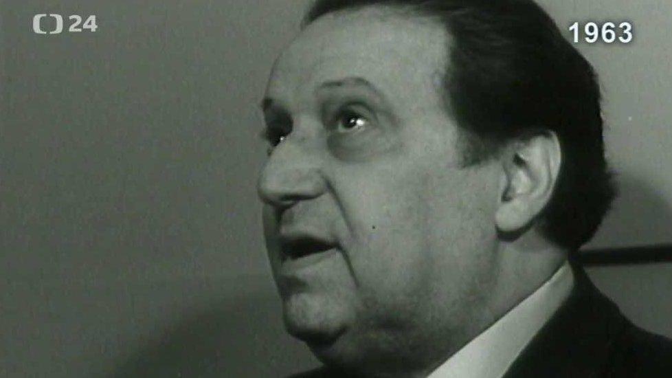 Hugo Haas na návštěvě filmových ateliérů (1963)
