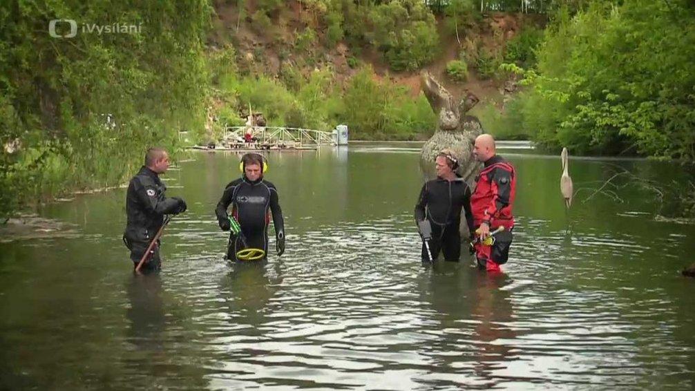 Potápění - hledání pokladu