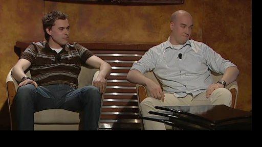Ondřej Slanina a Filip Sajler vpořadu Všechnopárty