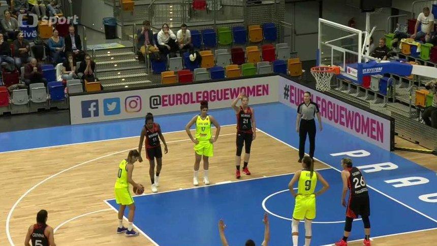 Evropská liga v basketbalu: ZVVZ USK Praha - CJM Bourges Basket