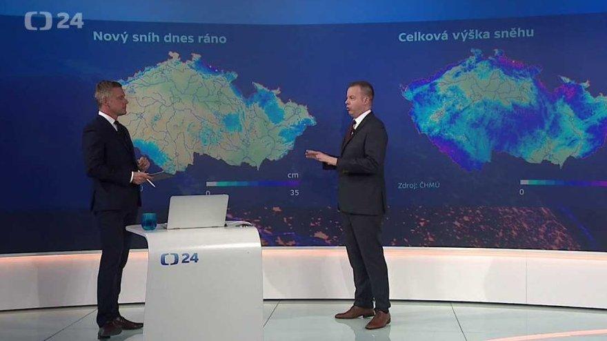 ddf095ef04d 90  ČT24  Problémy se sněhem komplikují život v ČR — Česká televize