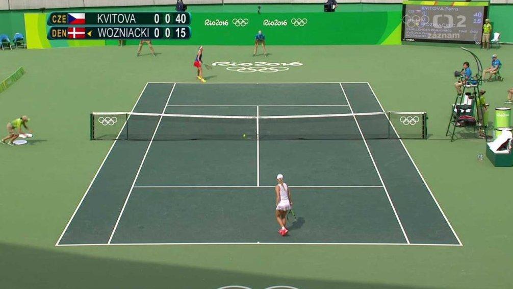 ce03fbecf60 LOH 2016 Rio de Janeiro  Tenis  Kvitová - Wozniacká — Česká televize