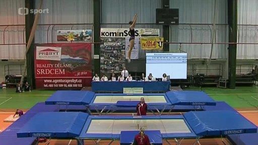 Gymnastika: Český pohár ve skocích na trampolíně Praha