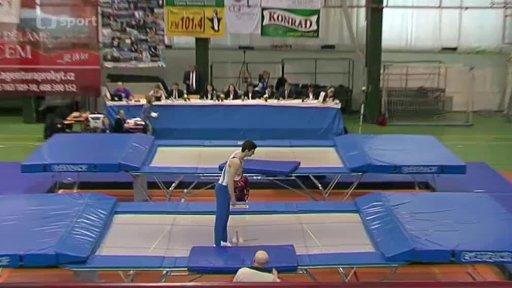 Gymnastika: Český pohár ve skocích na trampolíně 2013 Liberec
