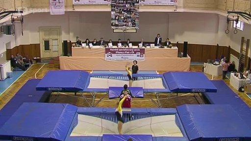 Gymnastika: Český pohár ve skocích na trampolíně 2013 Praha