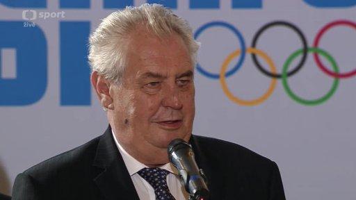 Přijetí členů české olympijské výpravy na Pražském hradě