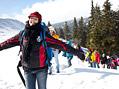 Radost Kamily po příjezdu na lyžařský výcvik