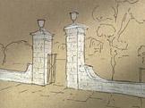 Dekorativn� br�na cizineck�ho h�bitova, Jokohama, Jan Letzel
