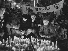 Praha, Národní třída; 17. 11. 89. © Jan Šilpoch