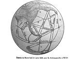 Mapa Marsu podle Schiaparelliho
