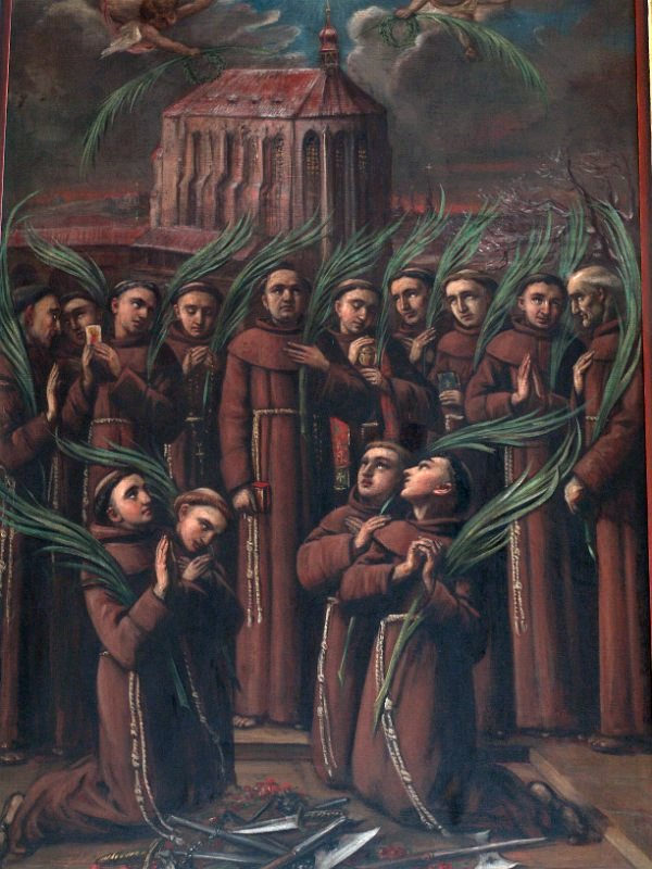 (čtrnáct mučedníků pražských: 4 Češi, 4 Italové, 3 Němci, 1 Španěl, 1 Francouz a 1 Holanďan)