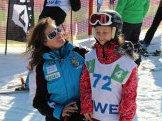 Česká reprezentantka valpském lyžování Eva Kurfüstová sHvězdičkou dne SnowKidz – Natálkou