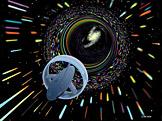 Ilustrace černé díry (foto: Les Bossinas, zdroj: Wikimedia)
