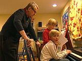 Miloš Forman se svými mladšími syny dvojčaty Jimmym aAndym