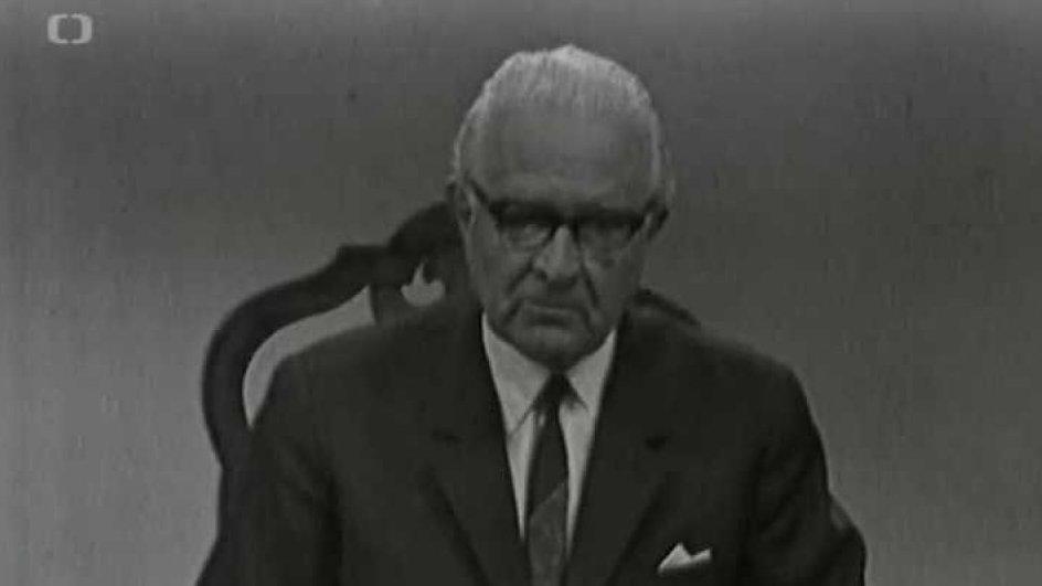 Projev prezidenta Ludvíka Svobody k úmrtí Jana Palacha