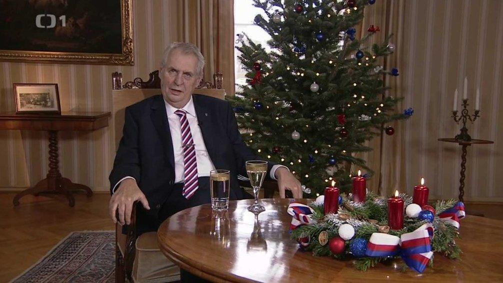 Mimořádné pořady ČT24: Vánoční poselství prezidenta republiky Miloše Zemana