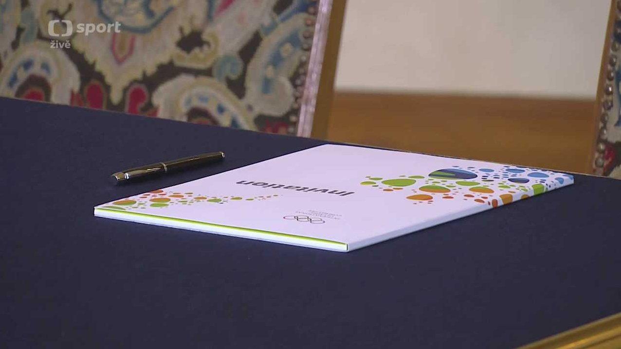 Podpis přihlášky ČOV na XXXI. letní olympijské hry 2016