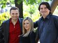 Richard Piskala a Eva Lanko�� (zpr�va�i) a editor zpr�v Mojm�r ���ek