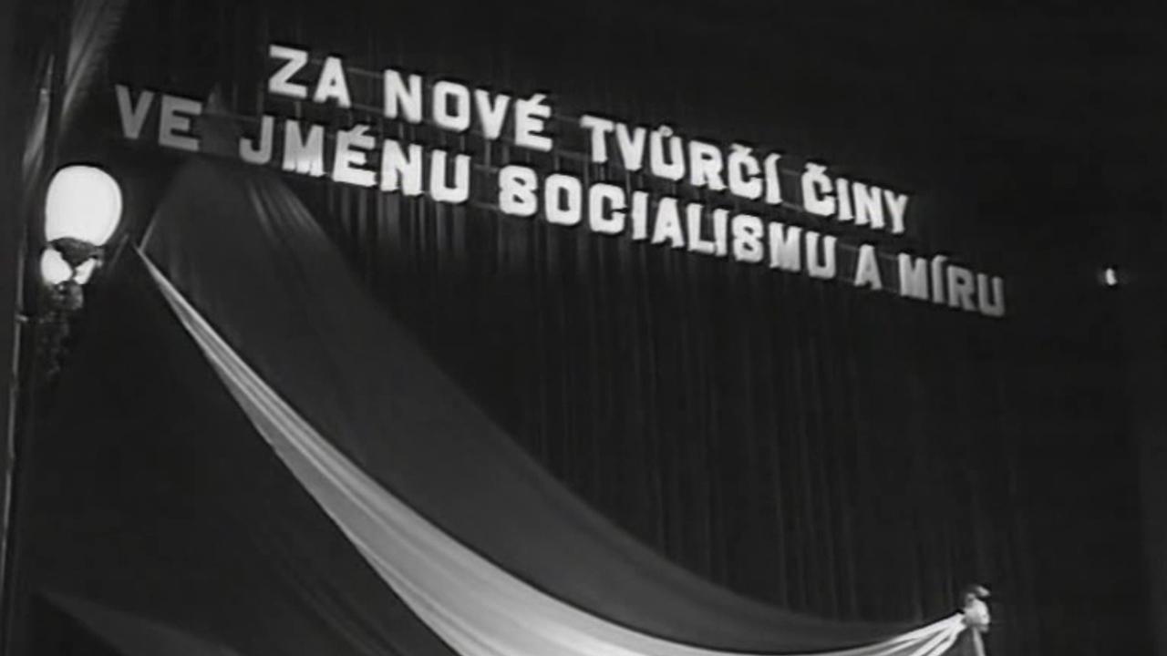 Celostátní shromáždění kulturní fronty v Národním divadle