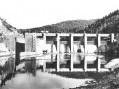 Štěchovická přehrada před dokončením