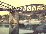 Zbraslav, most na Z�visti (pohlednice ze sb�rky F. Kadle�ka)