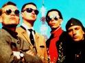 Laibach, zleva pravděpodobně Ervin Markošek, Ivan Novak, Dejan Knez, Milan Fras, zač. 90. let